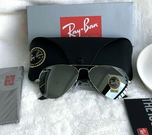 Ray-Ban Accessories - SILVER FLASH RAY-BAN AVIATOR 100% AUTHENTIC